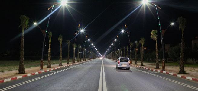 Street lighting in Morocco with LEDiL STRADA-IP-2X6-DWC lens modules