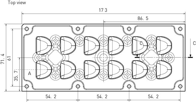 2x6 mechanical drawing