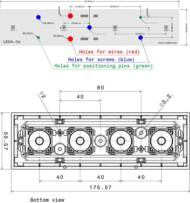 florentina-4x1 pcb layout
