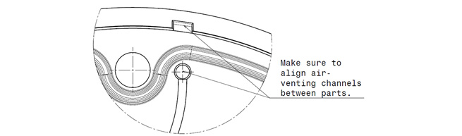 make sure aligning the air venting channels between lens and frame
