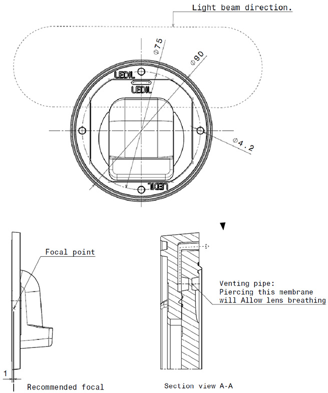 venting pipe location