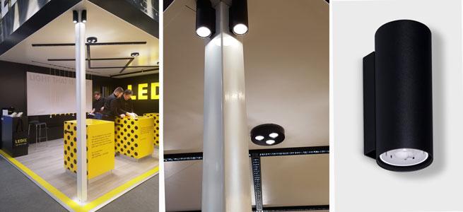LTS luminaire using LEDiL LEIA optics at LEDiL L+B 2018 booth