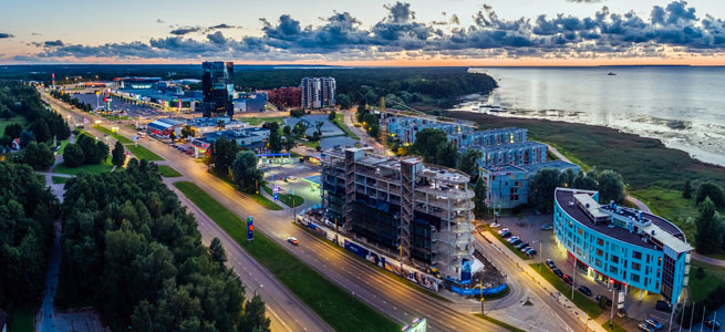 LAEV - a unique mix-use office and apartment building development located by the sea at the gateway to the Rocca al Mare shopping centre in Tallinn, Estonia