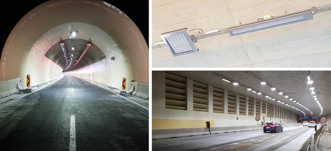 Tunnel Lighting in Austria using LEDiL LED optics