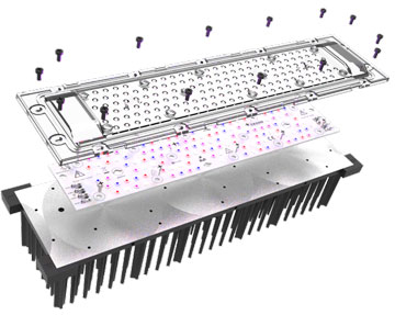 Reference design Cezos GrowEmity 120 with LEDiL DAHLIA LED optics for horticultural lighting