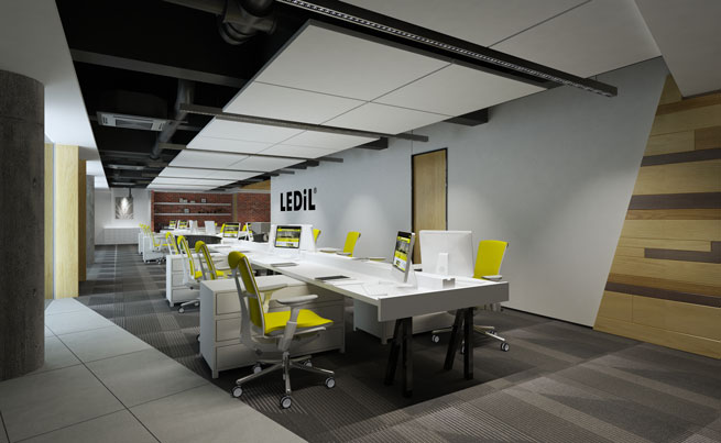 LED office lighting with LEDiL new DAISY LED optics