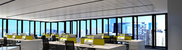 Check LEDiL application example of office lighting with DAISY LED optics