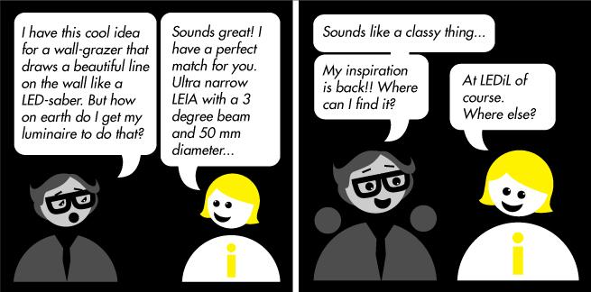 LEDiL LEDiNA introducing LEIA LED optic