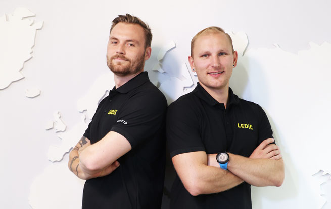 Linus and Ville - New Nordic Sales Manager and new Distributor Manager