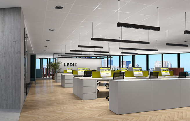 Ledil Lication Example Open Office Lighting With Daisy