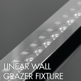 Linear wall grazer luminaire example for office lighting