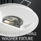 Downlight wall washer fixture example for office lighting