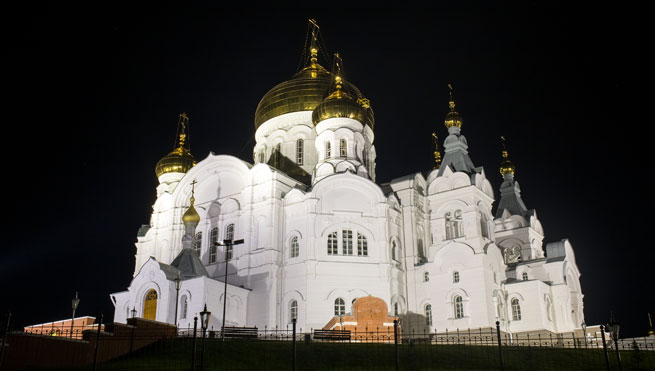 Belogorsky Monastery of St Nicholas architectural lighting with LEDiL optics