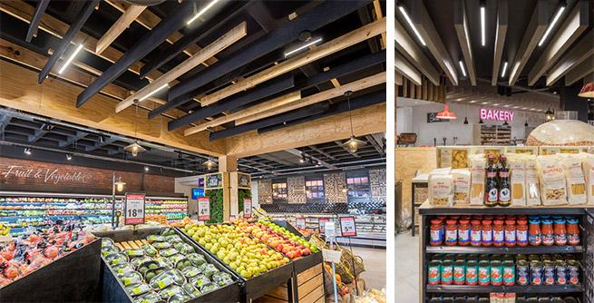 Supermarket lighting with LEDiL FLORENCE-1R-Z2T25 optics_01