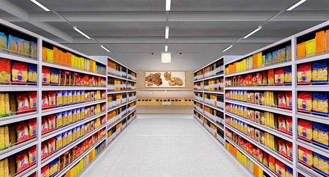 aisle supermarket florence example 3r application ledil linda lighting z90