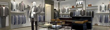 Low contrast retail lighting with LINDA extrusion optics