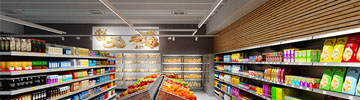 Supermarket lighting with LEDiL LINDA and ALISE LED optics