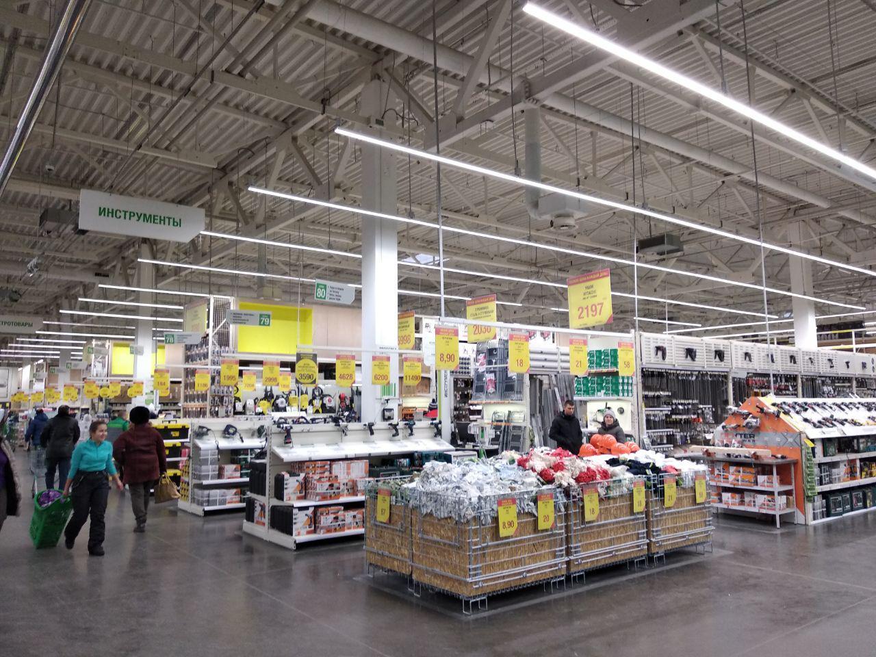 новое освещение для российской сети гипермаркетов Leroy
