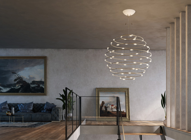 Catellani and Smith using LEDiL ZORYA on their ceiling lamp