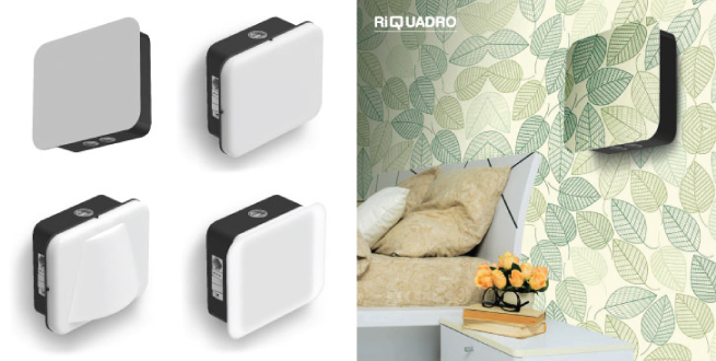 RiQuardo modular bedhead lighting system by Rimani using LEDiL RONDA-WAS optics