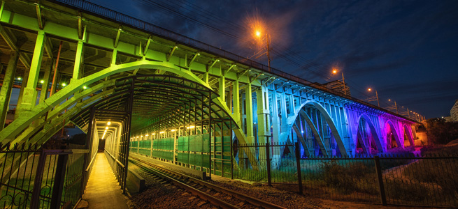 Bridge lighting with LEDiL LED lenses