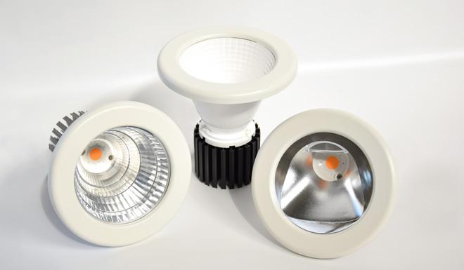 LEDiL LENA reflectors used in ILM Lighting retail lighting luminaires