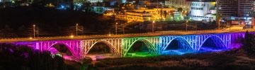 Boos Lighting using LEDiL optics in architectural bridge lighting