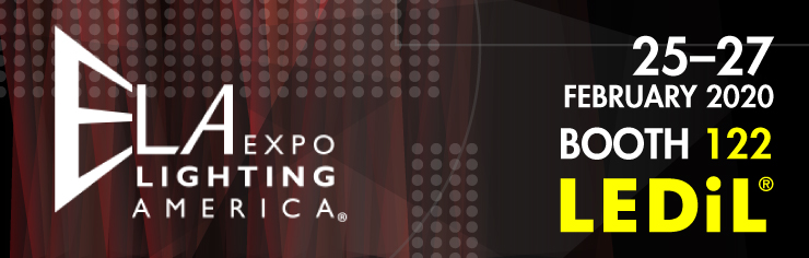 LEDiL at ELA Expo Lighting America fair at booth 122