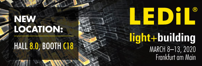 LEDiL at Light+Building 2020, Hall 8.0 booth C18