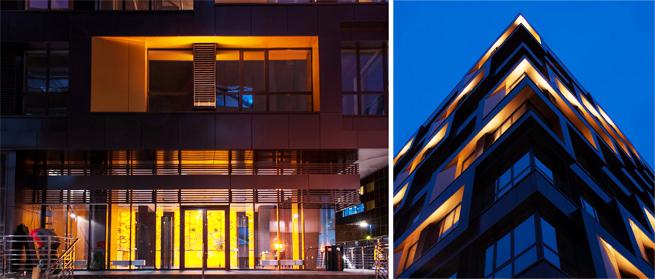 IntiLED architectural lighting with LEDiL TINA LED optics