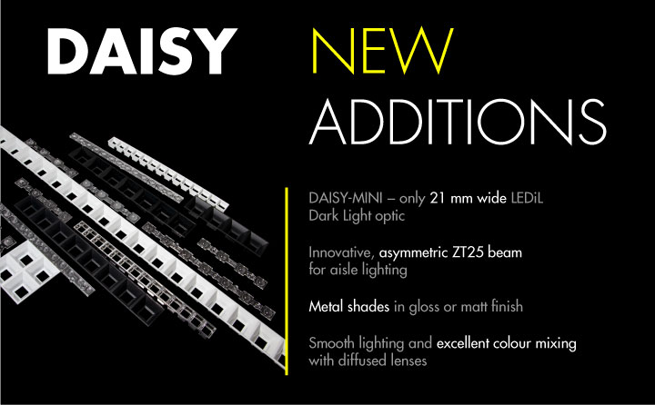 New additions to LEDiL Dark Light optics family DAISY