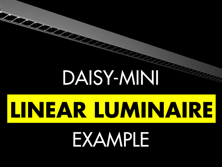 Linear luminaire example with DAISY-MINI Dark Light optic