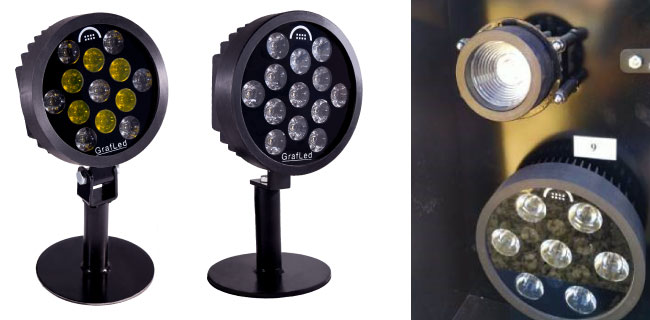 high performance round LED light with LEDiL HEIDI optics