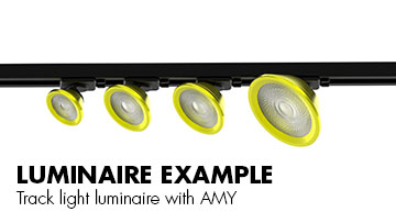 Luminaire example - Track light luminaire with AMY